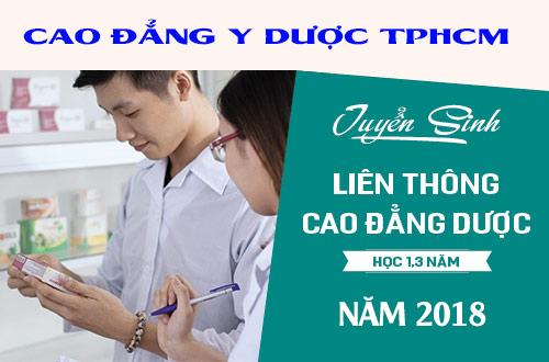 Hạn nộp hồ sơ Liên thông Cao đẳng Dược TPHCM năm 2018?